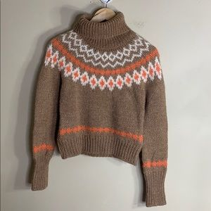 J crew wool blend cowl neck sweater